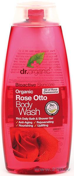 Dušas želeja Dr. Organic Rose Otto 250 ml cena un informācija | Mazgašanās līdzekļi | 220.lv
