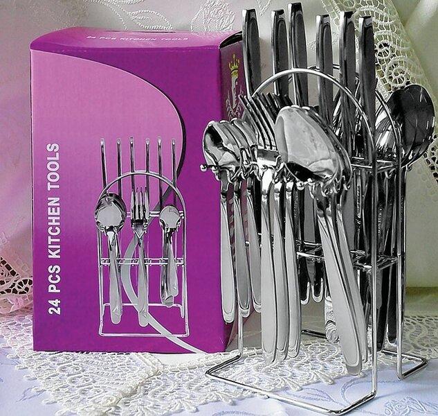 Galda piederumu komplekts, 25 daļas. cena un informācija | Virtuves piederumi | 220.lv