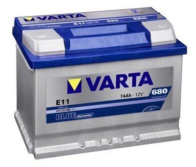 VARTA BLUE 74AH 680A E11 цена и информация   Akumulatori   220.lv