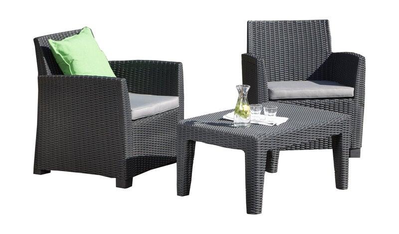 AlliBert plastmasa dārza mēbeļu komplekts Corona balcony cena un informācija   Dārza krēsli   220.lv