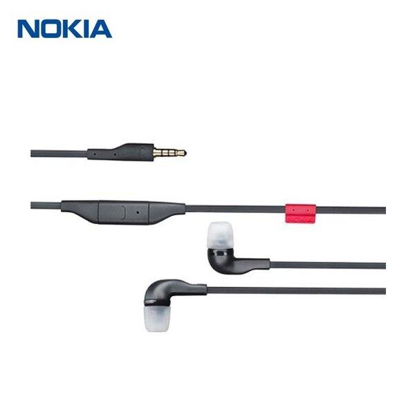 Nokia WH-205 Stereo 3.5mm Austiņas ar mikrofonu Melnas (M-S Blister) cena un informācija | Austiņas | 220.lv