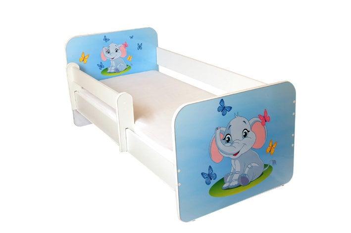 Bērnu gulta ar matraci un noņemamu maliņu Ami 25, 160x80cm cena un informācija | Bērnu istabas mēbeles | 220.lv
