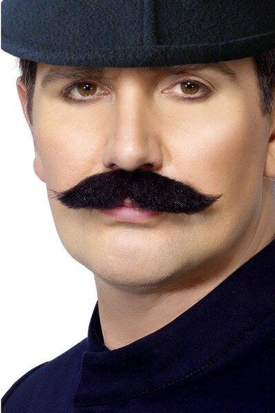 Līmētas policista ūsas cena un informācija | Karnevāla kostīmi, maskas un parūkas | 220.lv