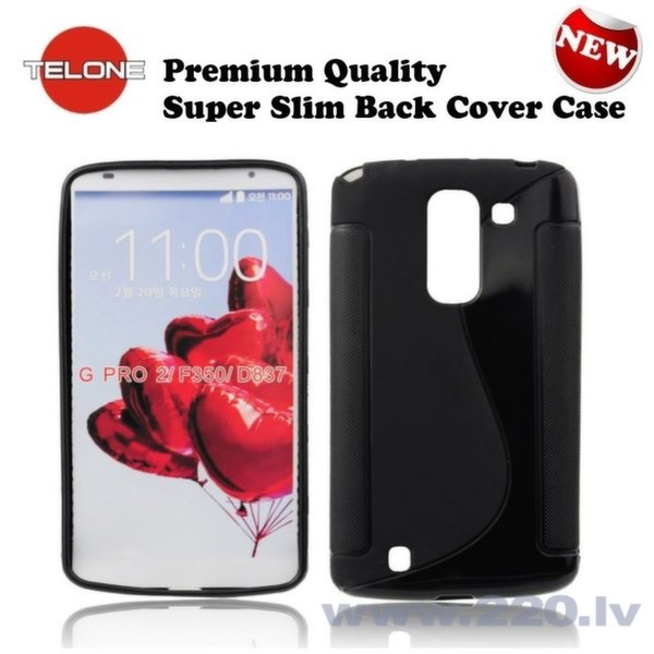 Telone Back Case S-Case Резиновый чехол для мобильного телефона LG D838 G Pro 2, Чёрный цена и информация | Maciņi, somiņas | 220.lv