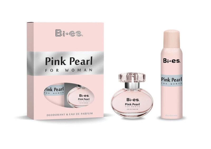 Комплект Bi-es Pink Pearl: edp 50 мл + дезодорант 150 мл цена и информация | Sieviešu smaržas | 220.lv