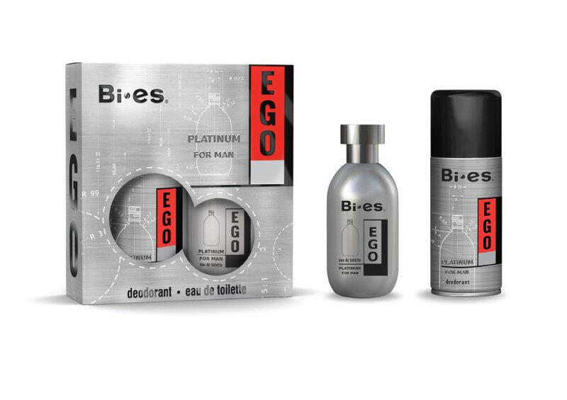Комплект Bi-es Ego Platinum: edt 100 мл + дезодорант 150 мл цена и информация | Vīriešu smaržas | 220.lv