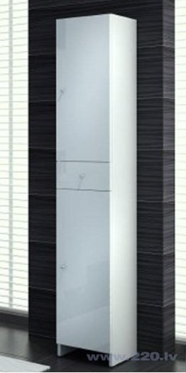 Augsts vannas istabas skapis NATALIA C35 cena un informācija | Vannas istabas mēbeles | 220.lv