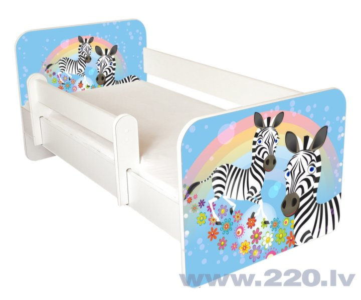 Bērnu gulta ar matraci un noņemamu maliņu Ami 47, 140x70cm cena un informācija | Bērnu istabas mēbeles | 220.lv