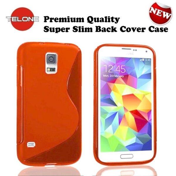 Telone силиконовый чехол Samsung Galaxy S5 Mini (G800) оранжевый цена и информация | Maciņi, somiņas | 220.lv