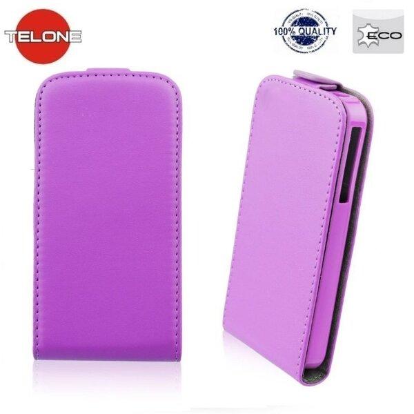 Vertikāli atverams mobilā telefona maciņš Telone Flexi Slim Flip LG L90 (D405), violets цена и информация | Maciņi, somiņas | 220.lv