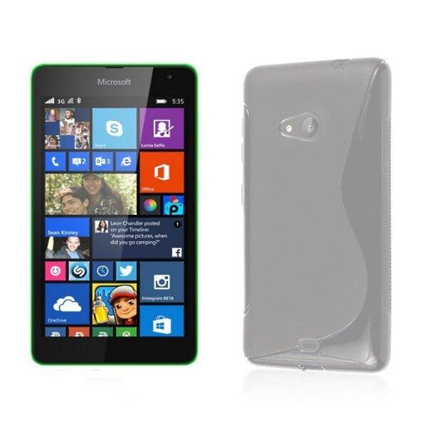 Telone gumijots telefona apvalks Microsoft 535 Lumia caurspīdīgs cena un informācija | Maciņi, somiņas | 220.lv