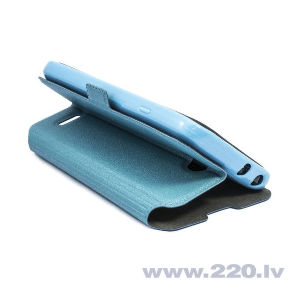 Telone Супер тонкий Чехол-книжка со стендом Samsung G386 Galaxy Core LTE Синий цена и информация | Maciņi, somiņas | 220.lv