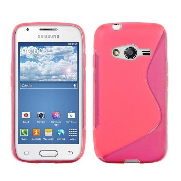 Telone gumijots telefona apvalks Samsung Galaxy Ace 4 (G357FZ) rozā cena un informācija | Maciņi, somiņas | 220.lv