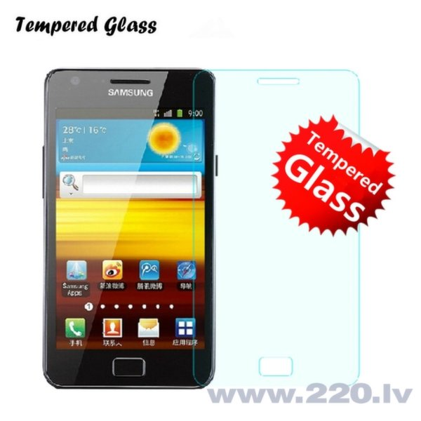 Tempered Glass Extreeme Shock Защитная пленка-стекло Samsung i9100 Galaxy S2 (EU Blister) цена и информация | Ekrāna aizsargplēves | 220.lv