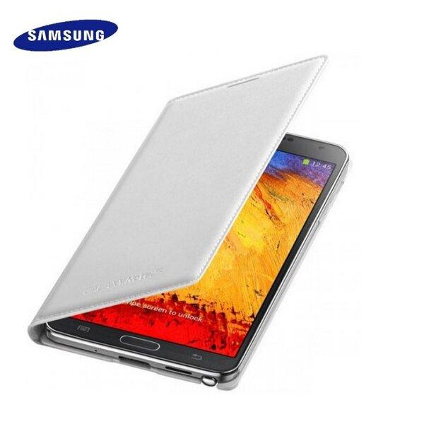Samsung EF-WN750BWE Īpaši plāns sāniski atverams maks Galaxy N7505 Galaxy Note 3 Neo Balts (EU Blister) cena un informācija | Maciņi, somiņas | 220.lv
