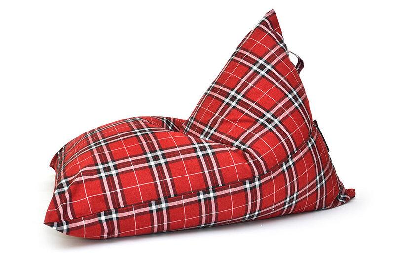 Sēžammaiss Razzmatazz Home Tartan Red (PUŠKU PUŠKU) cena un informācija | Sēžammaisi, pufi | 220.lv