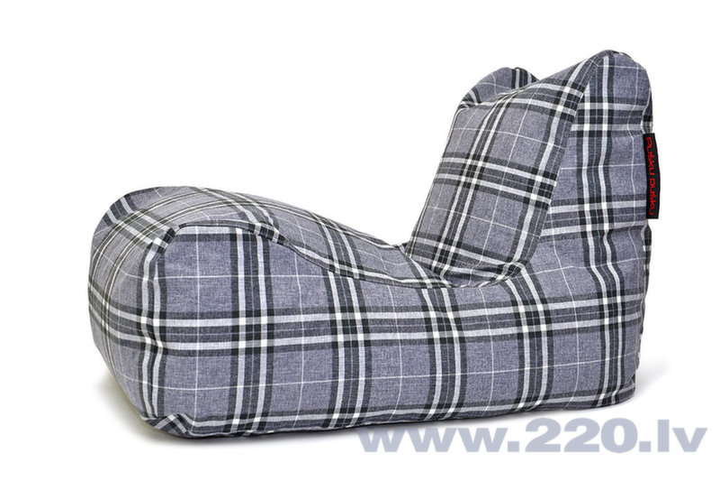 Sēžammaiss Lounge Home Tartan Grey cena un informācija | Sēžammaisi, pufi | 220.lv