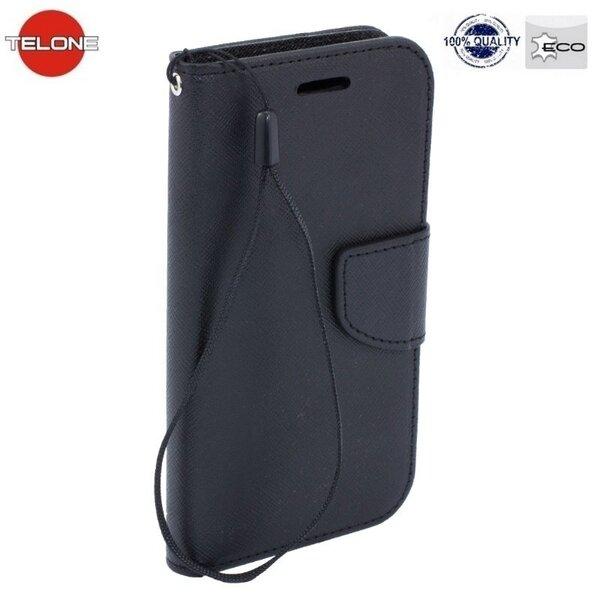 Maciņš - grāmata Telone Fancy Diary Bookstand Samsung Galaxy Core 2 (G355), Melna cena un informācija | Maciņi, somiņas | 220.lv