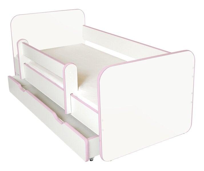 Bērnu gulta ar matraci, veļas kasti un noņemamu maliņu Ami R, 140x70cm cena un informācija | Bērnu istabas mēbeles | 220.lv