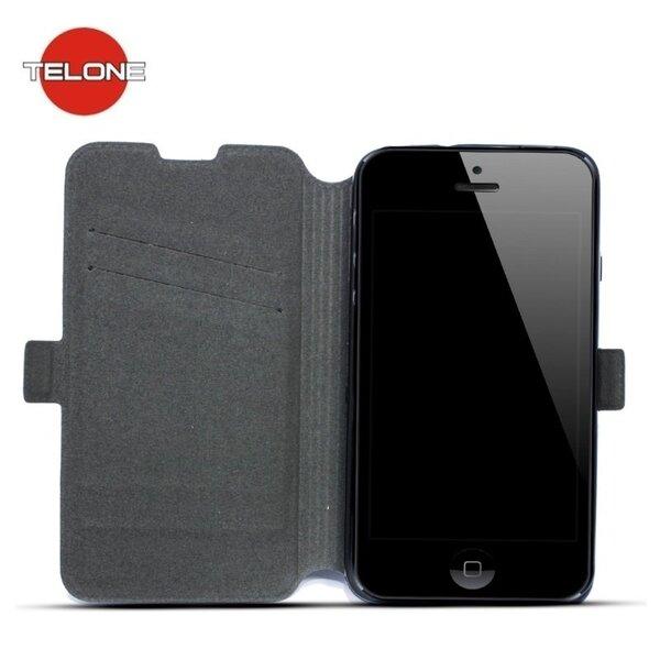 Telone Супер тонкий чехол-книжка для мобильного телефона Sony Xperia E4, Чёрный цена и информация | Maciņi, somiņas | 220.lv