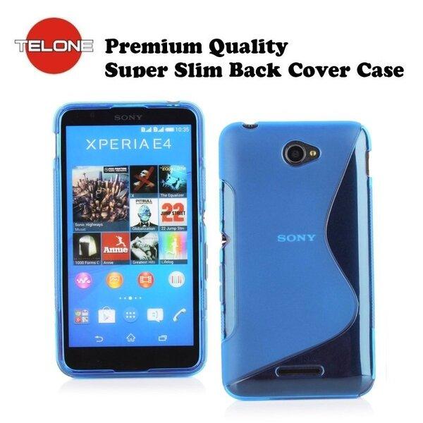 Telone силиконовый чехол Sony Xperia E4 синий цена и информация | Maciņi, somiņas | 220.lv