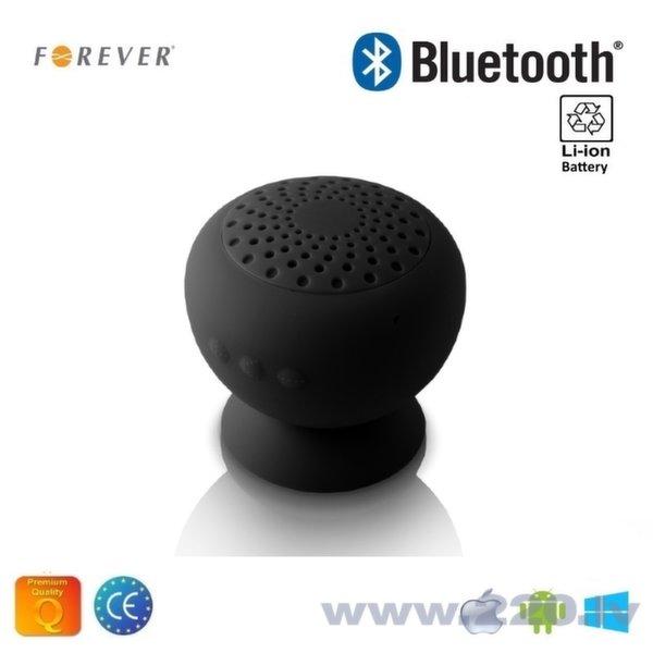 Forever MF-600 Mitruma izturīgs Bluetooth Silikona 3W Skaļrunis / Telefona Statīvs Melns cena un informācija | Skaļruņi | 220.lv
