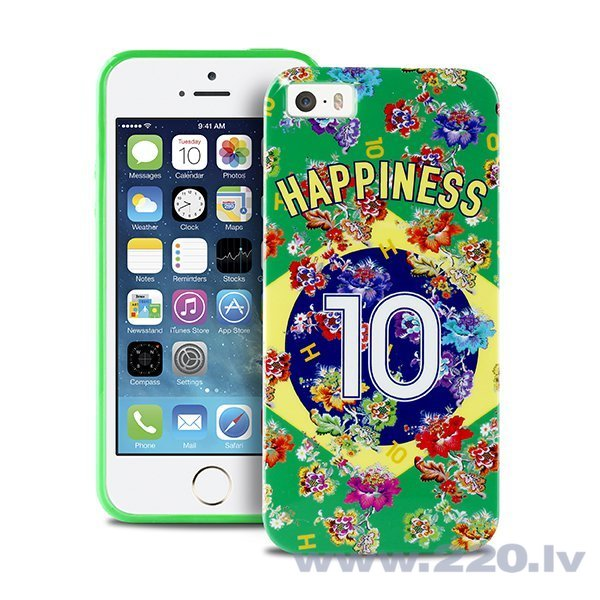 Чехол Puro HPIPC5BRA HAPPINESS IPHONE 5/5S WORLD CUP BRA FLAG для телефона iPhone 5/5S/SE цена и информация | Maciņi, somiņas | 220.lv