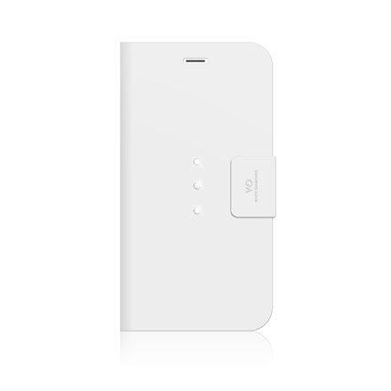 Sāniski atverams maks ar stendu Trinity Wallet priekš Apple iPhone 6 Plus, Balts cena un informācija | Maciņi, somiņas | 220.lv
