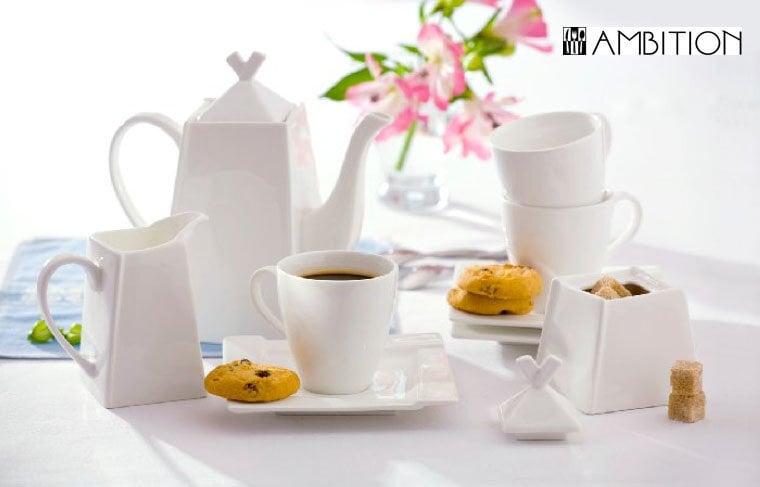 Ambition Kubiko kafijas servīze , 17 daļas cena un informācija | Glāzes, krūzes, karafes | 220.lv