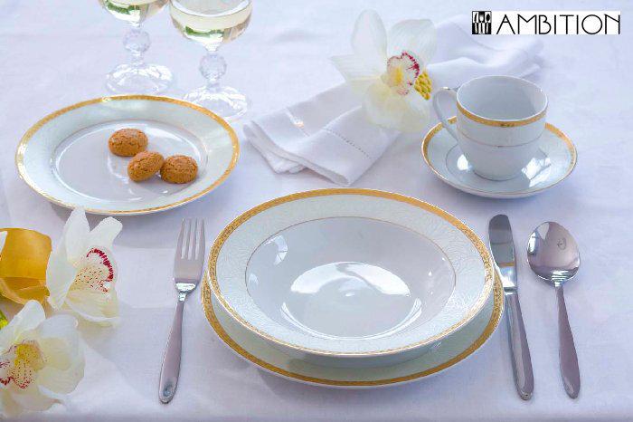 Ambition Lordene pusdienu servīze, 43 daļas cena un informācija | Trauki | 220.lv