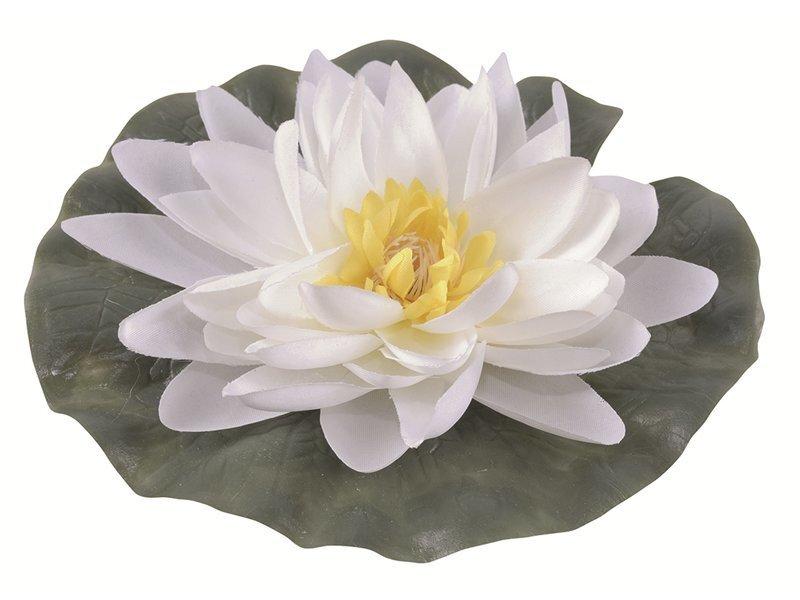 Mākslīga ūdens lilija, balta, 15 cm cena un informācija | Dārza dekori | 220.lv