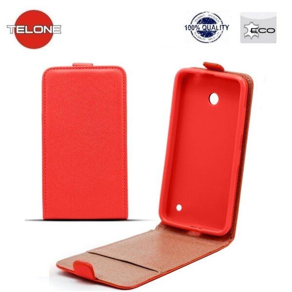 Telone Shine Pocket Slim Flip Case Huawei Honor 7 telefona maks vertikāli atverams Sarkans cena un informācija | Maciņi, somiņas | 220.lv