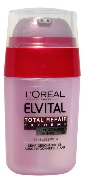 L'Oreal Paris Elvital Total Repair Extreme Divkāršais serums īpaši bojātiem matiem, 15 ml cena un informācija | Matu uzlabošanai | 220.lv