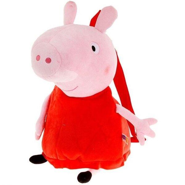 Peppa Pig Plīša rotaļlieta-mugursoma, 52 cm cena un informācija | Rotaļlietas zīdaiņiem | 220.lv