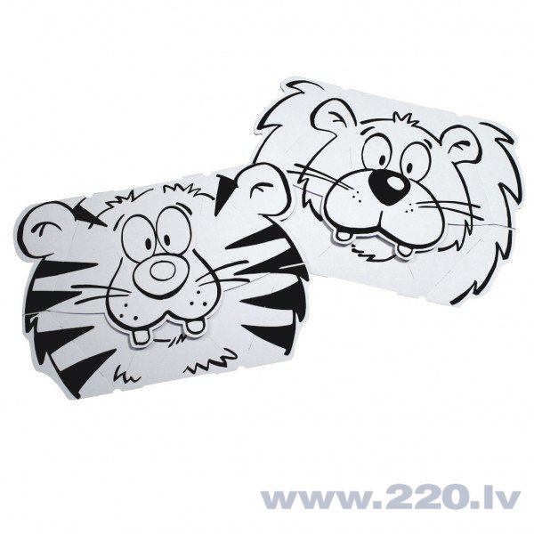 Комплект масок Calafant тигр и лев цена и информация | Zinātniskās un attīstošās spēles, komplekti radošiem darbiem | 220.lv