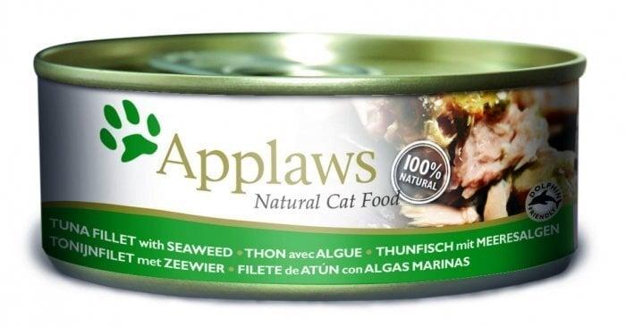 Konservi kaķiem Applaws Cat Tuna Fillet & Seaweed, 70 g cena un informācija | Konservi kaķiem | 220.lv