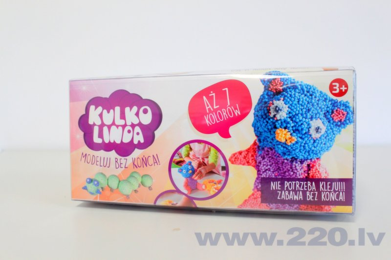 Mīklas modelēšanas komplekts Poly Dough, 7 krāsas cena un informācija | Zinātniskās un attīstošās spēles, komplekti radošiem darbiem | 220.lv