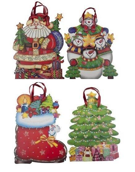 Dāvanu maisiņš 25x13,5x33 cm cena un informācija | Ziemassvētku dekori un eglīšu rotājumi | 220.lv