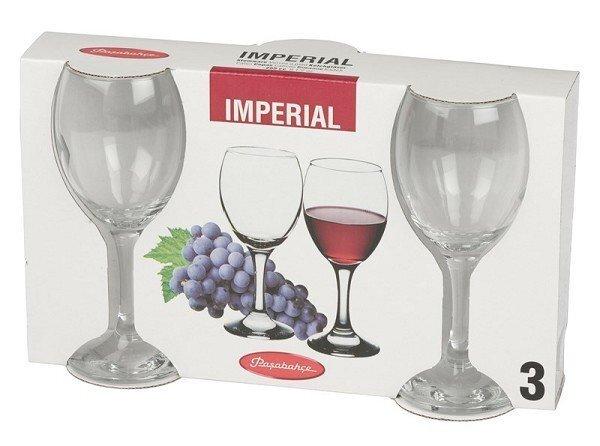 Imperial sarkanvīna glāzes, 3 gab. cena un informācija | Glāzes, krūzes, karafes | 220.lv