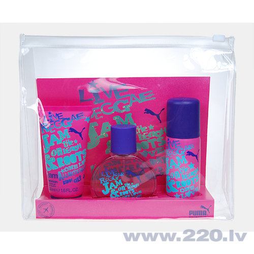 Комплект Puma Jam Woman: edt 40 мл + гель для душа 50 мл + дезодорант 50 мл цена и информация | Sieviešu smaržas | 220.lv