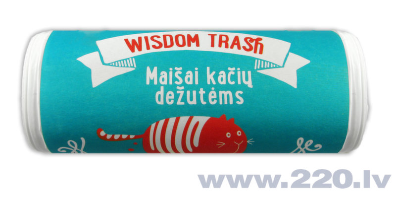 Maisiņi kaķu tualetei Wisdom Trash, 8 gab. cena un informācija | Smiltis un pakaiši | 220.lv