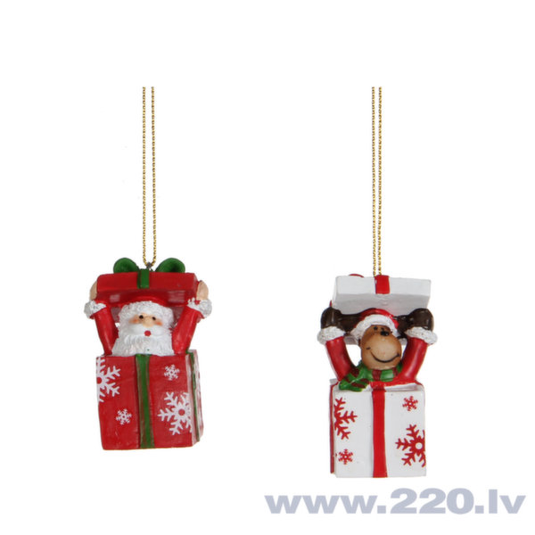 Ziemassvētku eglīšu rotaļlieta, 1 gab. cena un informācija | Ziemassvētku dekori un eglīšu rotājumi | 220.lv