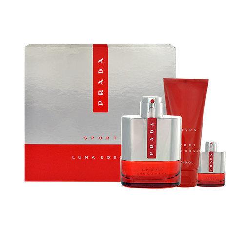 Комплект Prada Luna Rossa: 100 мл + гель для душа 100 мл + mini цена и информация | Vīriešu smaržas | 220.lv