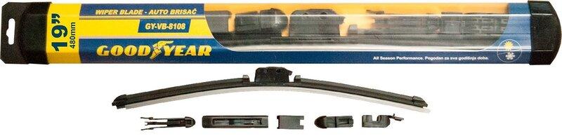 Vējstikla tīrītājs Goodyear GY-VB-8108 480 mm cena un informācija | Auto stiklu tīrītāji | 220.lv