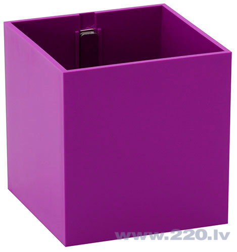 Puķu pods ar magnētu ''KUBAS'', violets, 9 cm cena un informācija | Dekoratīvie puķu podi | 220.lv