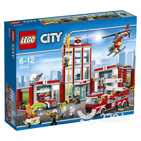 Конструктор City Lego Fire Station 60110 цена и информация | LEGO | 220.lv