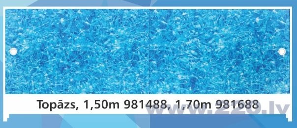 Экран для ванны Топаз, высота 56-60 см, длина 1,5 м цена и информация | Vannas ekrāni un citi aksesuāri | 220.lv