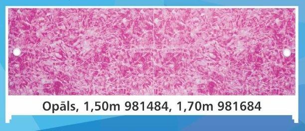 Ekrāns vannai no plastika augstums 56-60 cm, garums 170 cm Opāls cena un informācija | Vannas ekrāni un citi aksesuāri | 220.lv