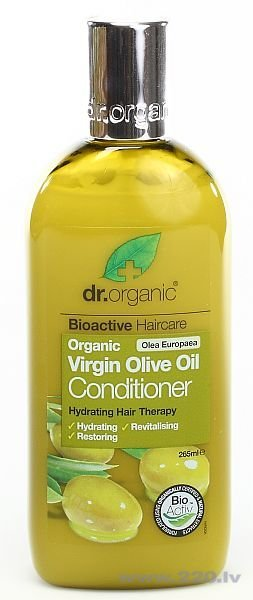 Кondicionieris Dr. Organic Virgin Olive Oil 265 ml cena un informācija | Kondicionieri, balzāmi | 220.lv