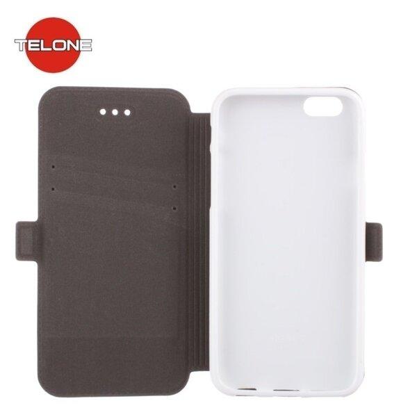 Telone Супер тонкий чехол-книжка со стендом для мобильного телефона LG Zero Белый цена и информация | Maciņi, somiņas | 220.lv